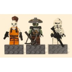 Lego Star Wars Magnet Set: ARF Trooper, Aurra Sing and Embo